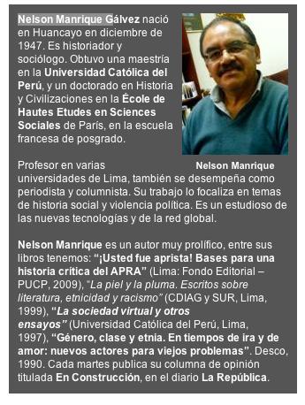 Nelson Manrique CV